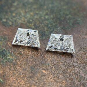 trapezoid brilliant cut matching diamonds