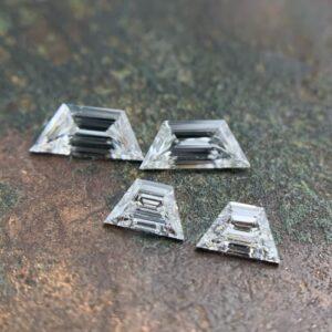 trapezoid step cut diamond matching pairs