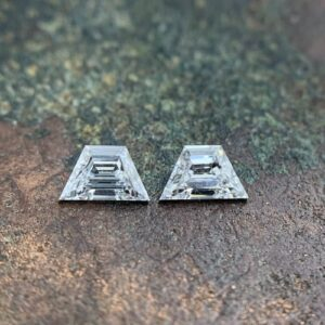trapezoid step cut matching side stones