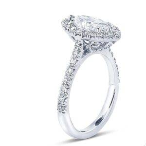 marquise cut diamond engagement ring micro pave